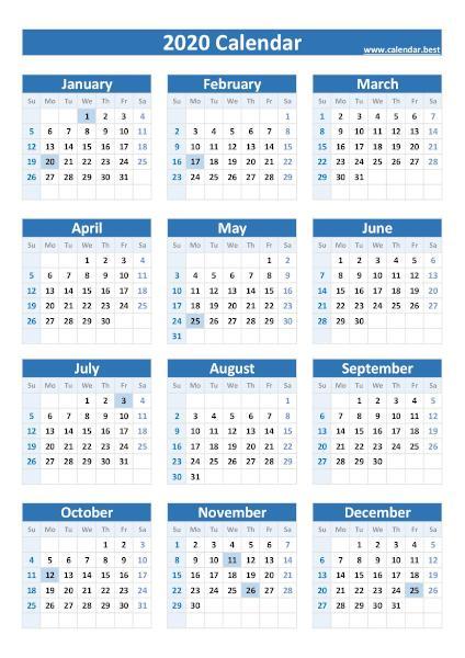2020, 2021, 2022 Federal Holidays : list and calendars ...