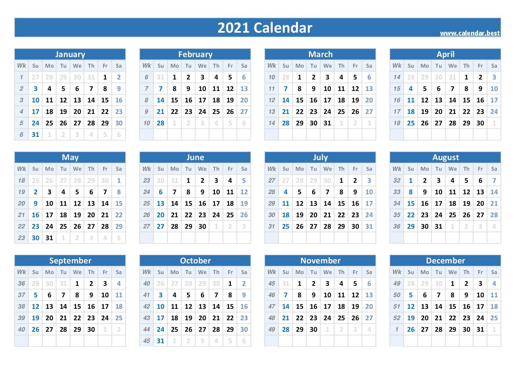 20 calendar with week numbers  Calendar.best